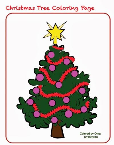 Christmas Tree Coloring Sheet - Free