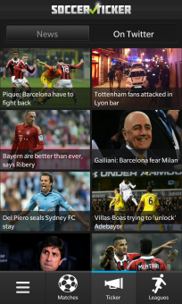 Soccer Ticker for BlackBerry OS 10