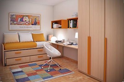 Simple and Minimalist Teen Bedroom Design by Sergi Mengot 4