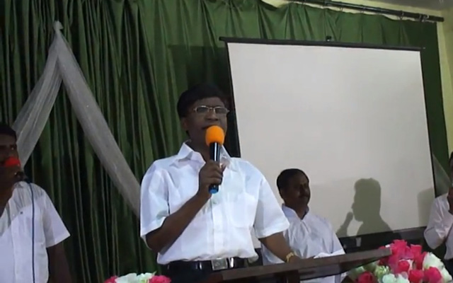 During the Singing Pastor Moses Rajasekar