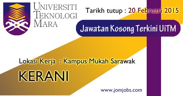 Jawatan Kosong Kerani UiTM 2015 - Universiti Teknologi Mara