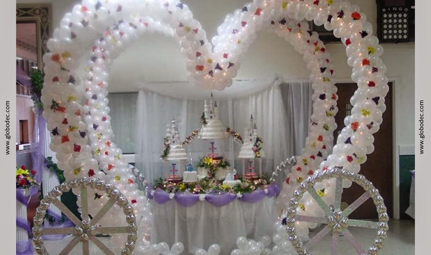 Decoracion con globos para 15 a os - Adornos para pared ...