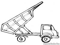 Gambar Mobil Dump Truk Menurunkan Muatan
