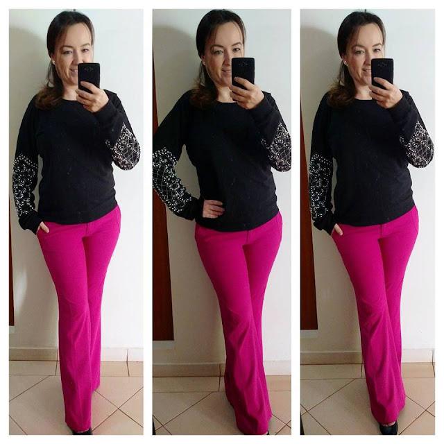 blog camila andrade, fashion blogger em ribeirão preto, blogueira de moda em ribeirão preto, ribeirão preto, look casual, calça flare pink, calça riachuelo, riachuelo, fast fashion, moletom bordado, moletom estiloso, moletom
