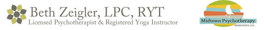 Counseling and Yoga Therapy with Anxiety and Eating Disorder Specialist, Beth Zeigler, LPC, RYT