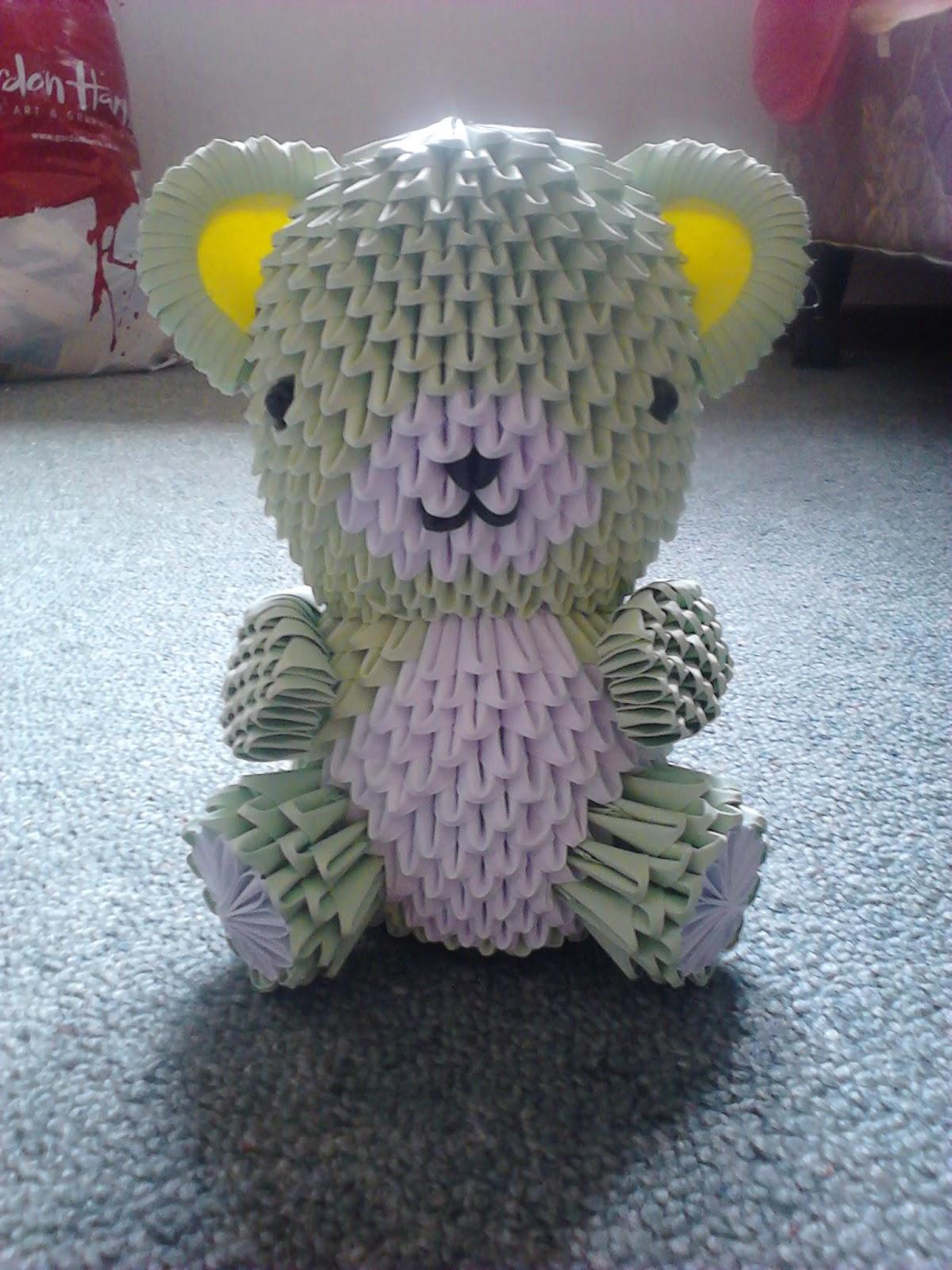 Jewellia Handicrafts 3D Origami Teddy Bear Variations