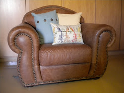 over-stuffed leather chair...SOLD