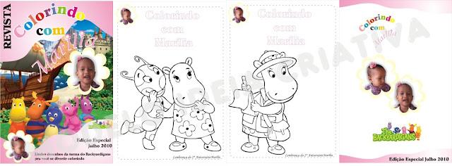 Backyardigans Revista Personalizada Festa Aniversário Infantil