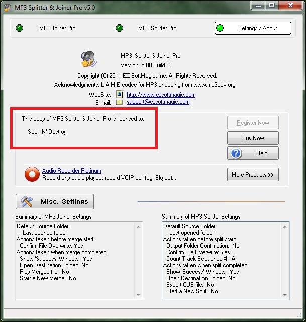 EZSoft MP3 Splitter & Joiner Pro 5.00 Full - EN.
