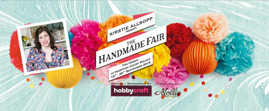 I am rather excited to be attending the Handmade Fair at Hampton Court his year!  This is the fair's second year and will be taking place on 18th - 20th September and had so much to offer I feel a bit like a child in a sweet shop!