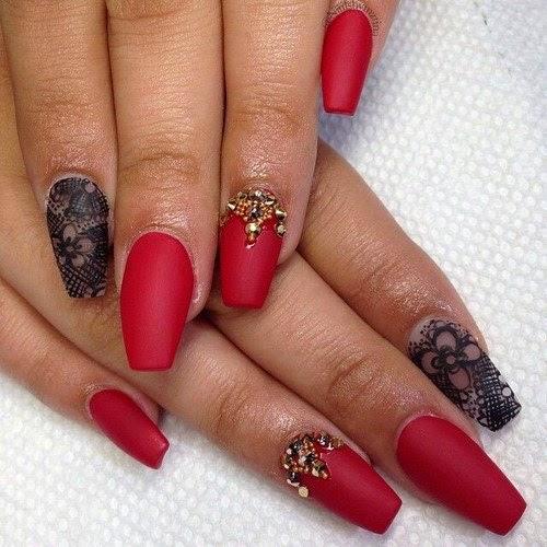 Rhinestones Nail Art Design #1.