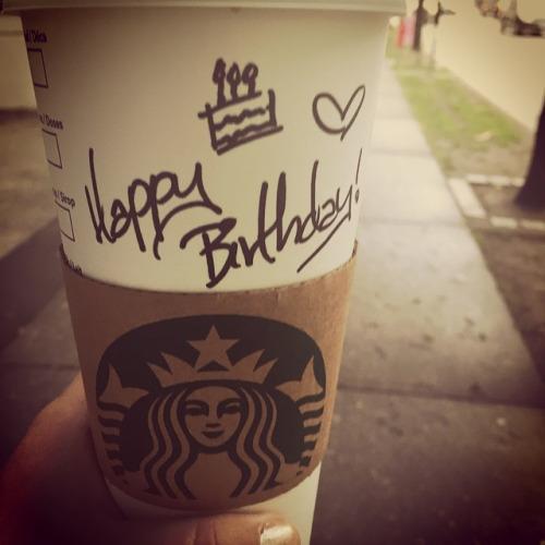 Free Birthday Starbucks ~ Birthday month goodies green fashionista