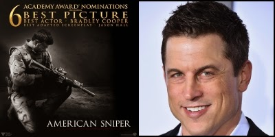 American Sniper written by Jason Hall, nominated for Best Adapted Screenplay Academy Award