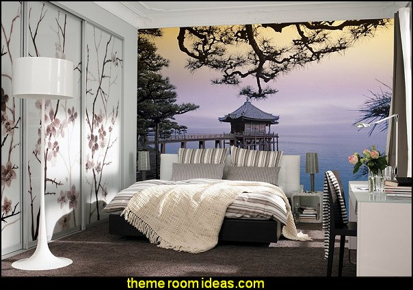 Zen WALL MURAL asian wall decorations oriental theme decorating