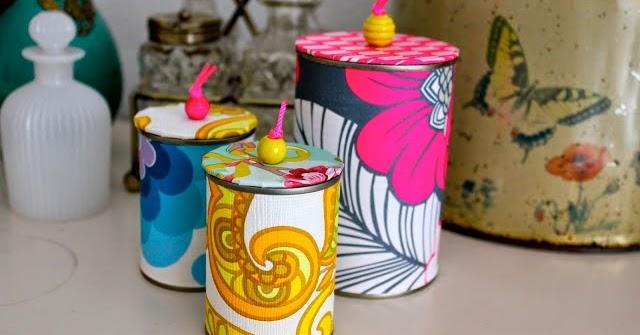 Riciclo creativo barattoli di latta porta oggetti fai da te for Fai da te oggetti