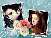 2 fotos com flores românticas