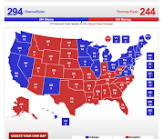 With six days left to the election, clearly Obama has the electoral vote .