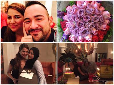 Sejambak Bunga Dari Sharnaaz Ahmad Untuk Kekasih Sempena Hari Jadi Ke-30