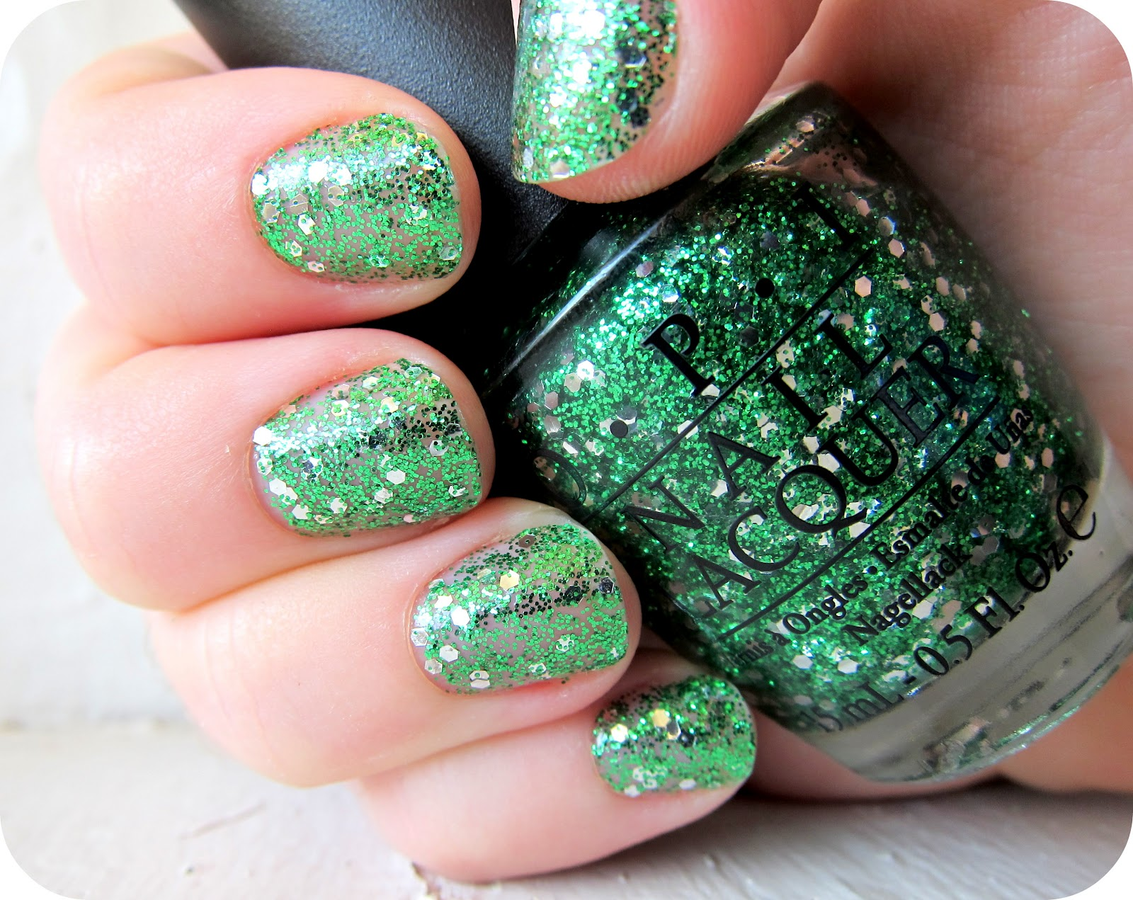 Magic on Main Street: St. Patrick\'s Day Nails: OPI Fresh Frog of Bel Air