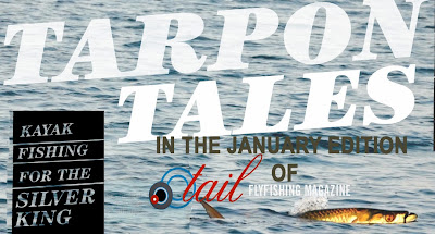 Tapon on a kayak in Tail Fly fishing magazine issue 9 - the free digital fly fishing magazine by flyfishbonehead