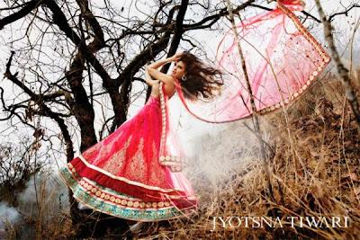 Jacqueline Fernandez's Photoshoot for Jyotsna Tiwari Couture collection 2013