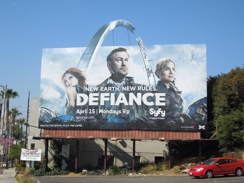 Defiance tv billboard