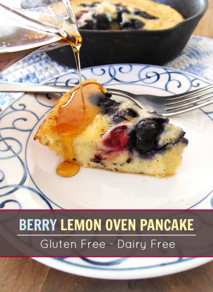 Berry Lemon Oven Pancake from Swirls and Spice