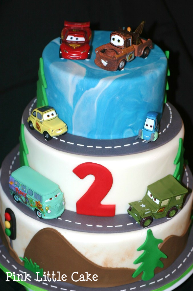 Pink Little Cake: Cars Theme Cake