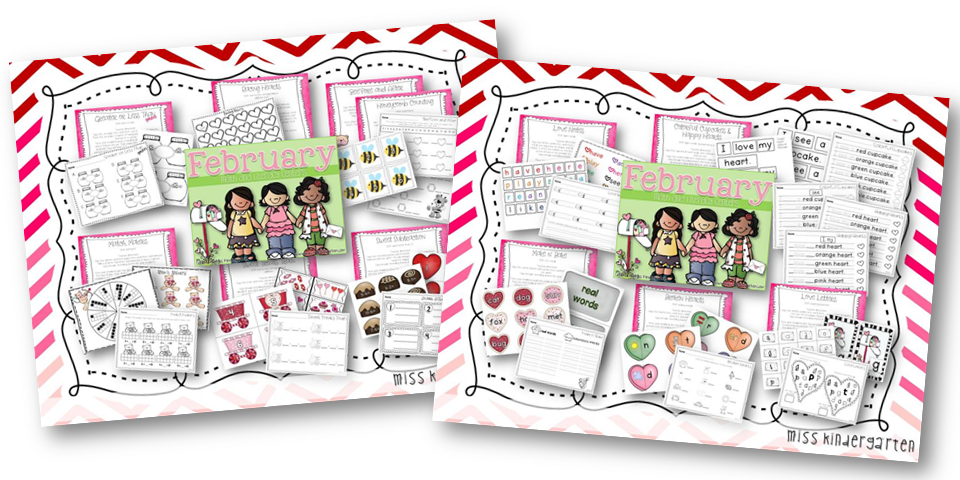 http://www.miss-kindergarten.com/2014/01/february-math-and-literacy-centers.html