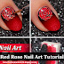 Red Rose Nail Art Tutorial