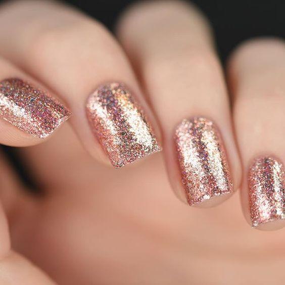 Stunning Rose Gold Nails