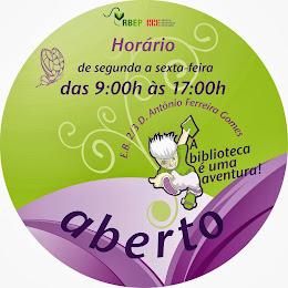 Horário da BE da EB 23 D. António Ferreira Gomes