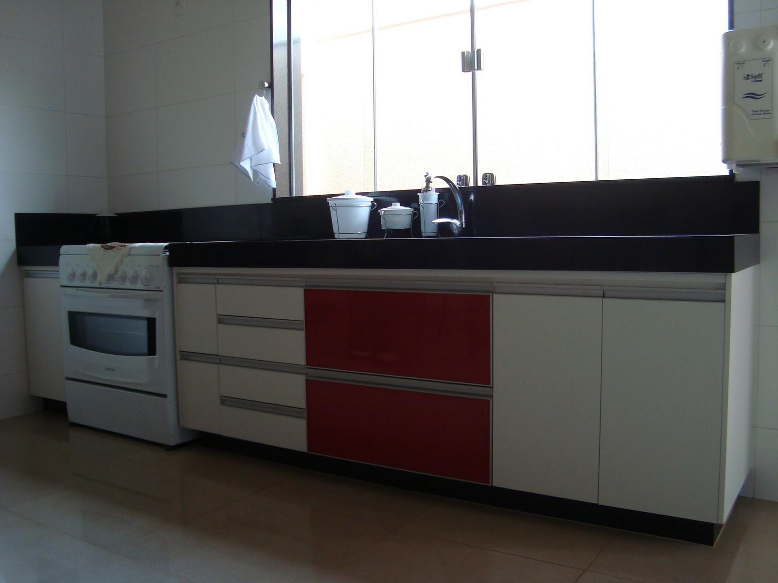 Cozinha Planejada Branca E Vermelha Como Usar Vermelho Na Cozinha
