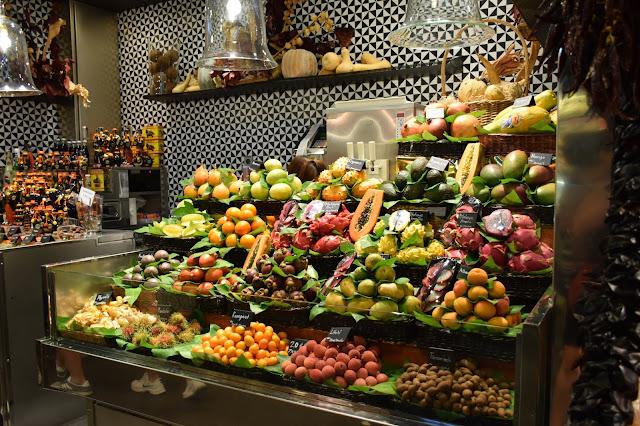 marché fruit barcelone espagne
