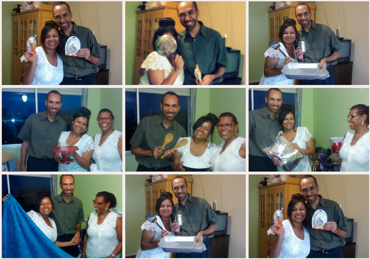 noivos, presentes, noivado, jantar, festa