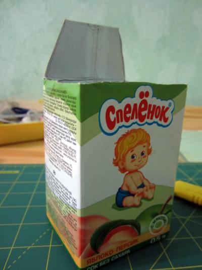 Как сделать домик из коробки из-под сока