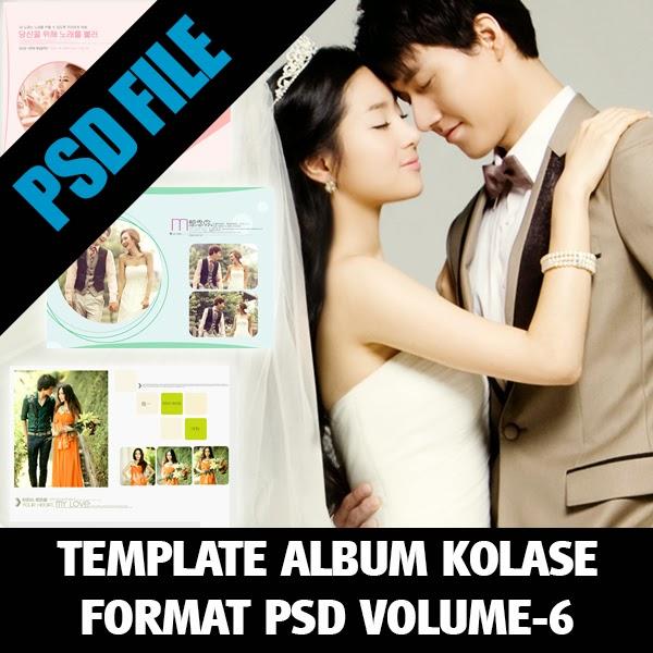 Template Album Kolase Format PSD Volume-6 - Album Kolase