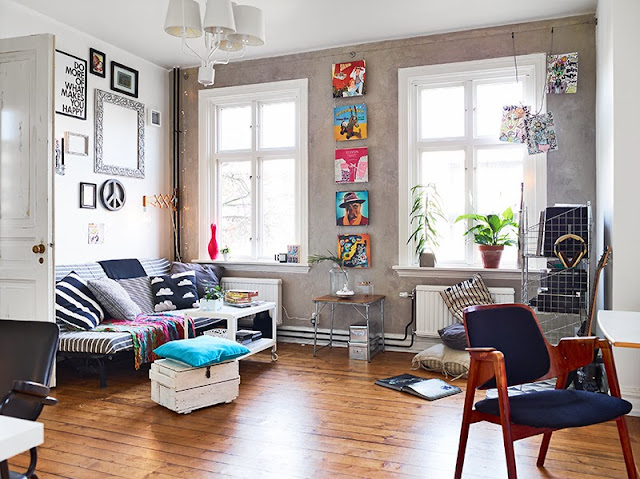 la petite fabrique de r ves en su de un petit deux pi ces joyeux et grand comme un loft. Black Bedroom Furniture Sets. Home Design Ideas