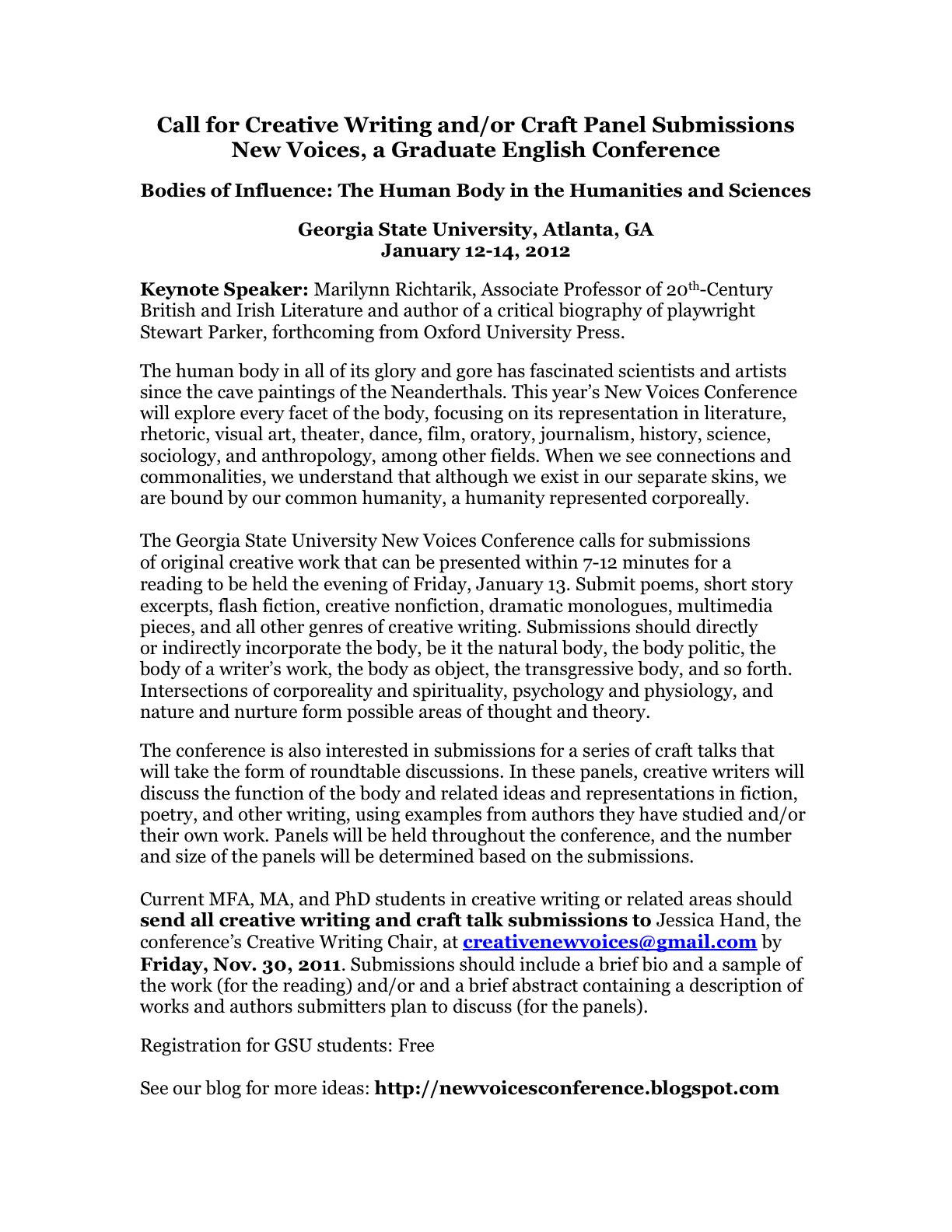 Creative writing phd research proposal