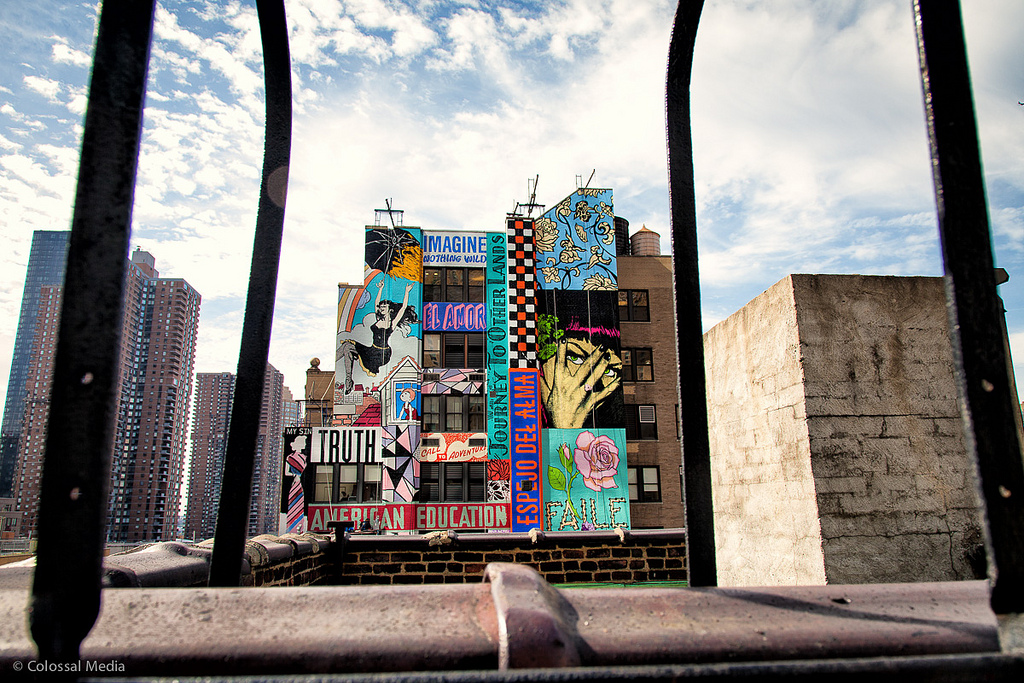 Simple Street Art By Faile On The Streets Of New York City USA