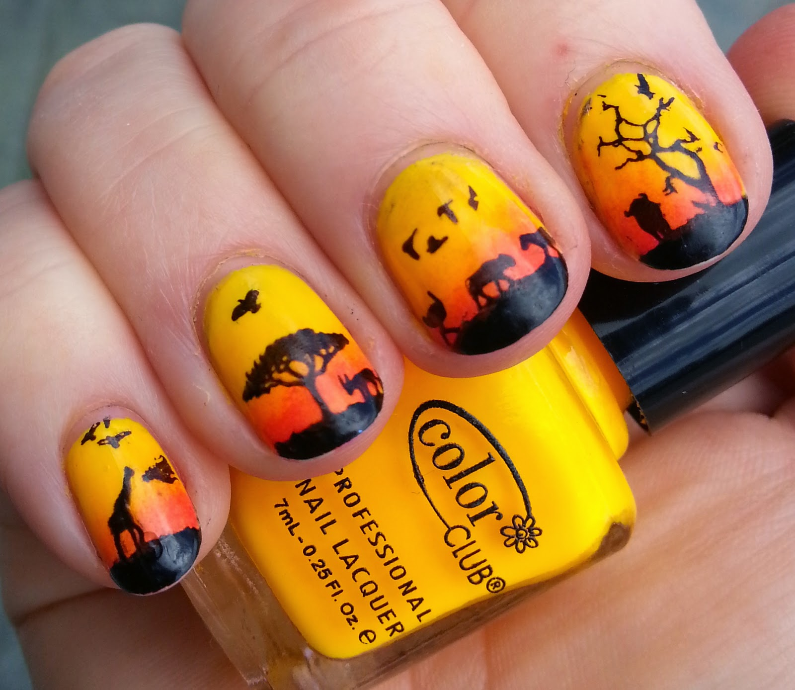 Vintage Musings Of A Modern Pinup: The Lion King Nails with MOYOU London