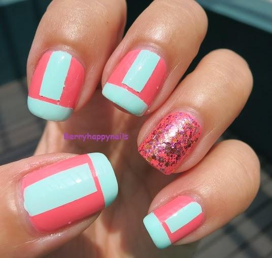 Happyberrynaiad Nail Art Weekend Color Block Fail