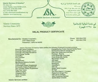 Shaklee ~ HALAL Certification