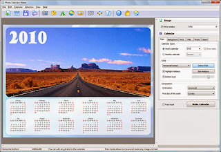 Photo Calendar Maker is a new application to create beautiful photo calendars for a year or month