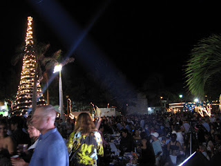 The view across the Plaza on New Year's Eve in Isla Mujeres