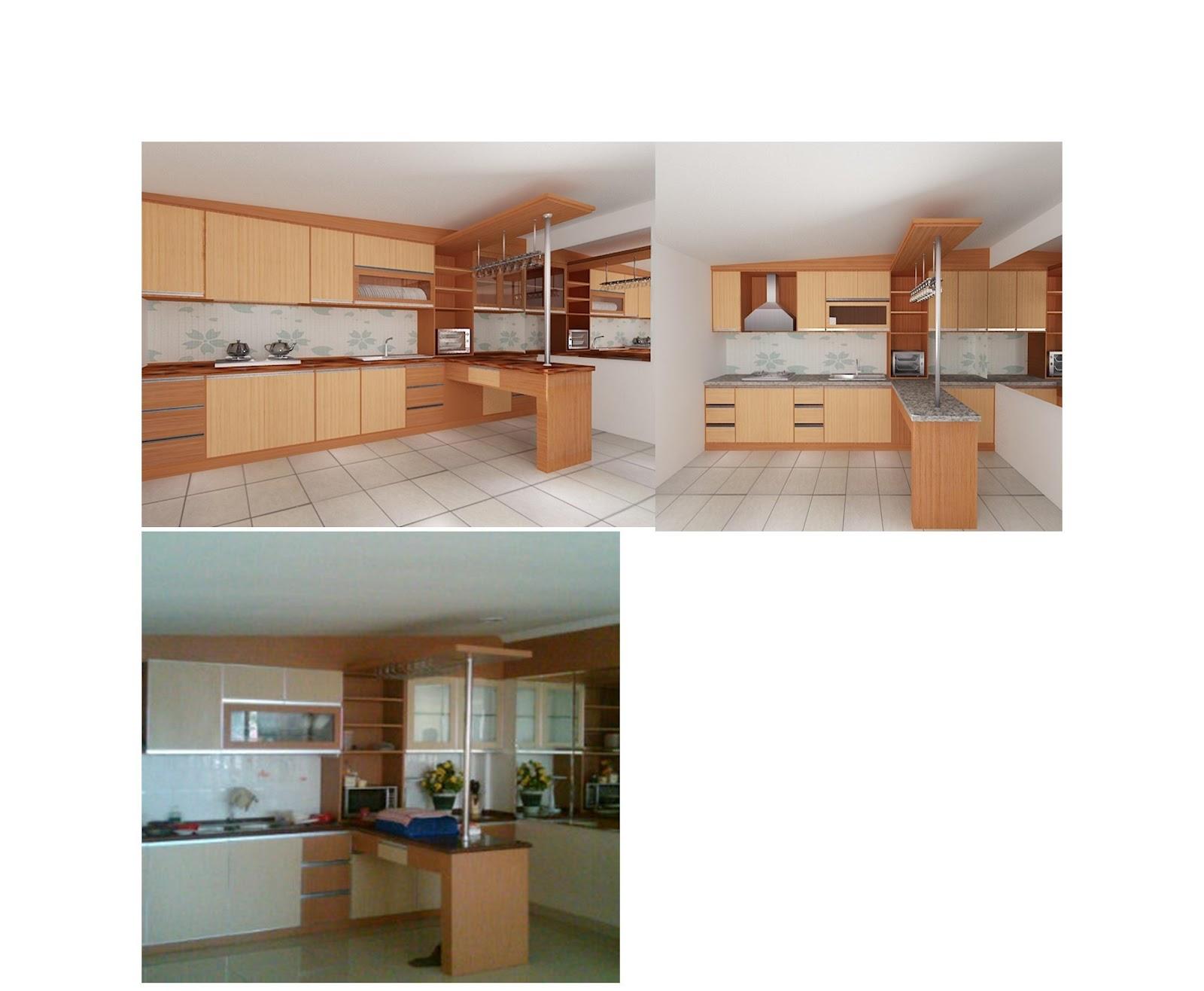 Furniture interior harga terjangkau agustus 2012 for Kitchen set lurus
