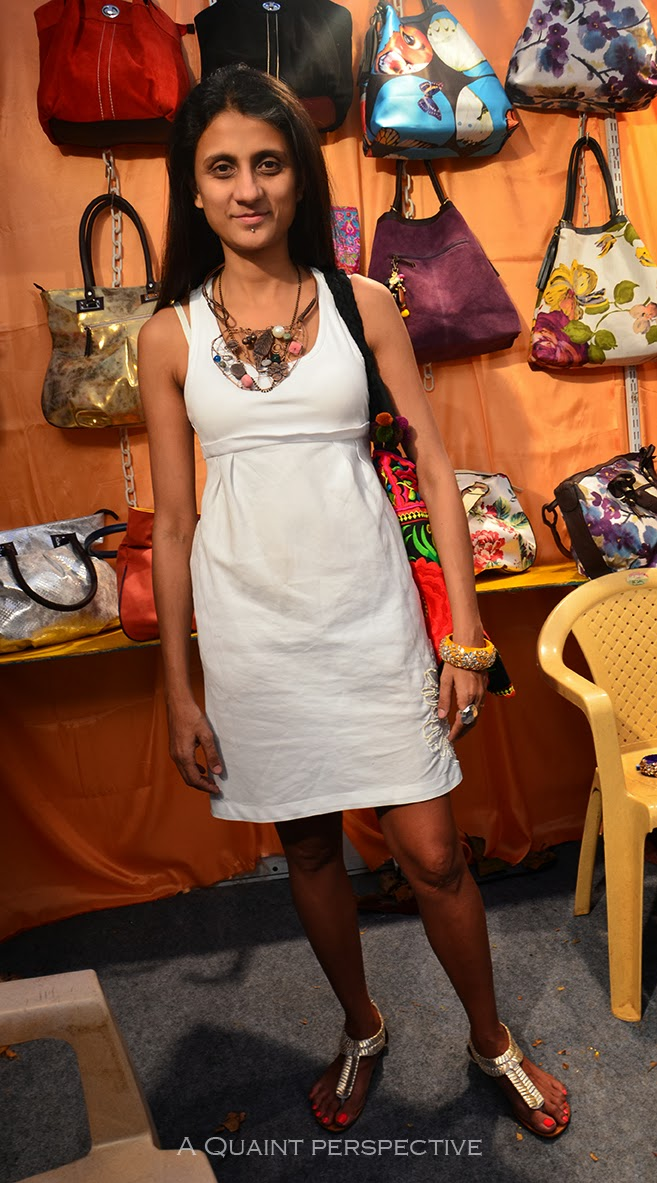 Vani Gupta does bags and accessories that you see in the background.