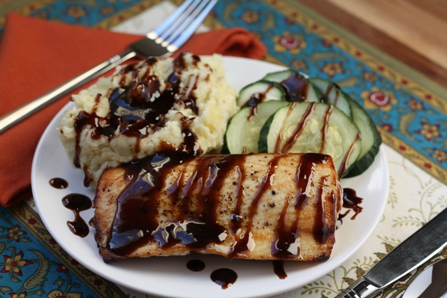 Sauteed Ono (or Tilapia) with Balsamic Butter Sauce recipe by Barefeet In The Kitchen