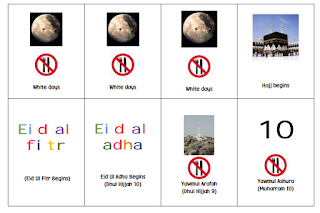 Islamic Calendar Events Cards for Calendar Display