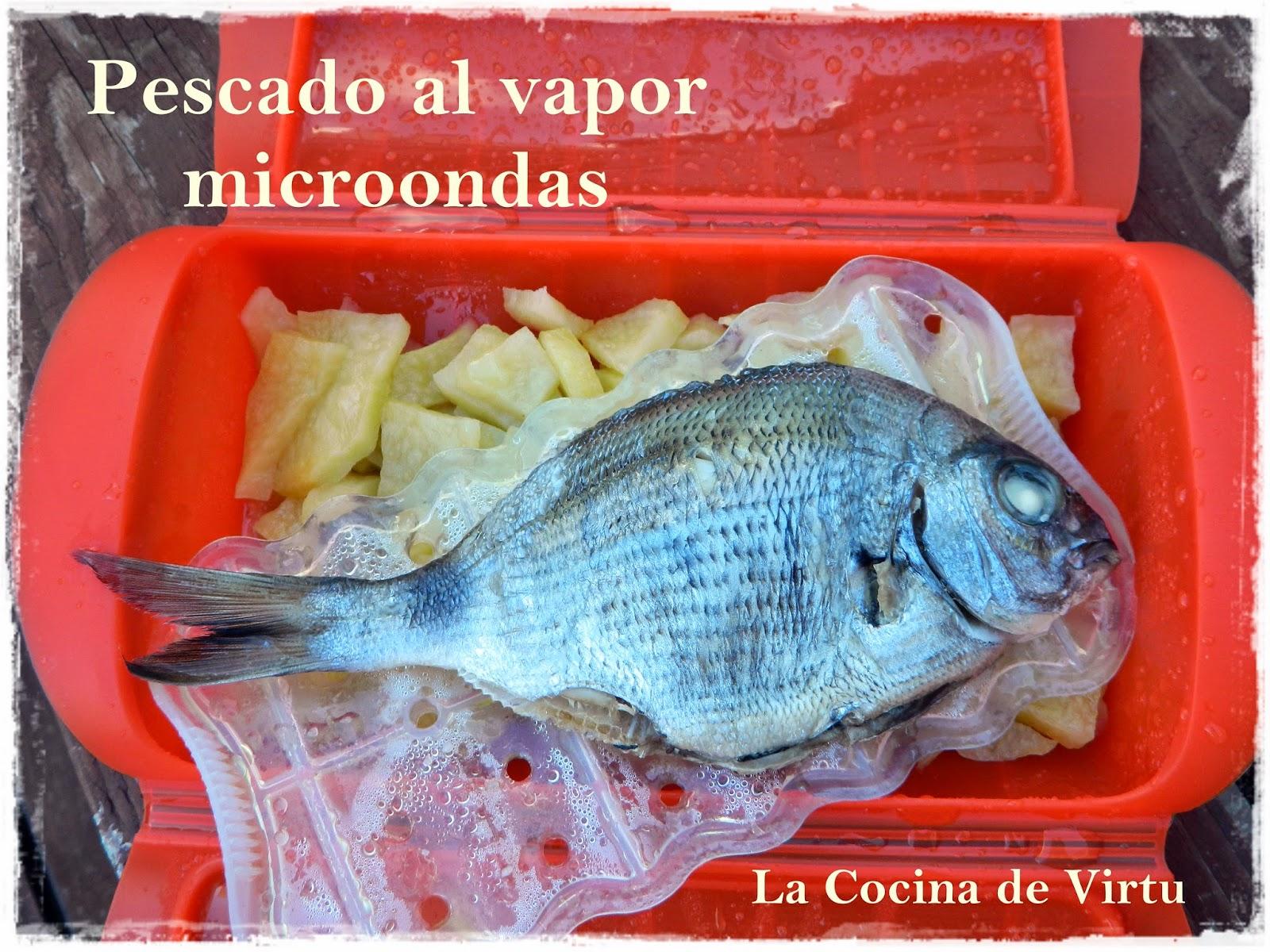 La cocina de virtu pescado al vapor en el microondas - Cocina al vapor microondas ...